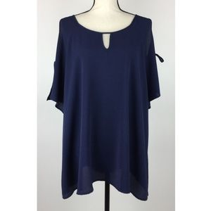 Misia Womens Blouse Top 3X Short Sleeve C12-15P